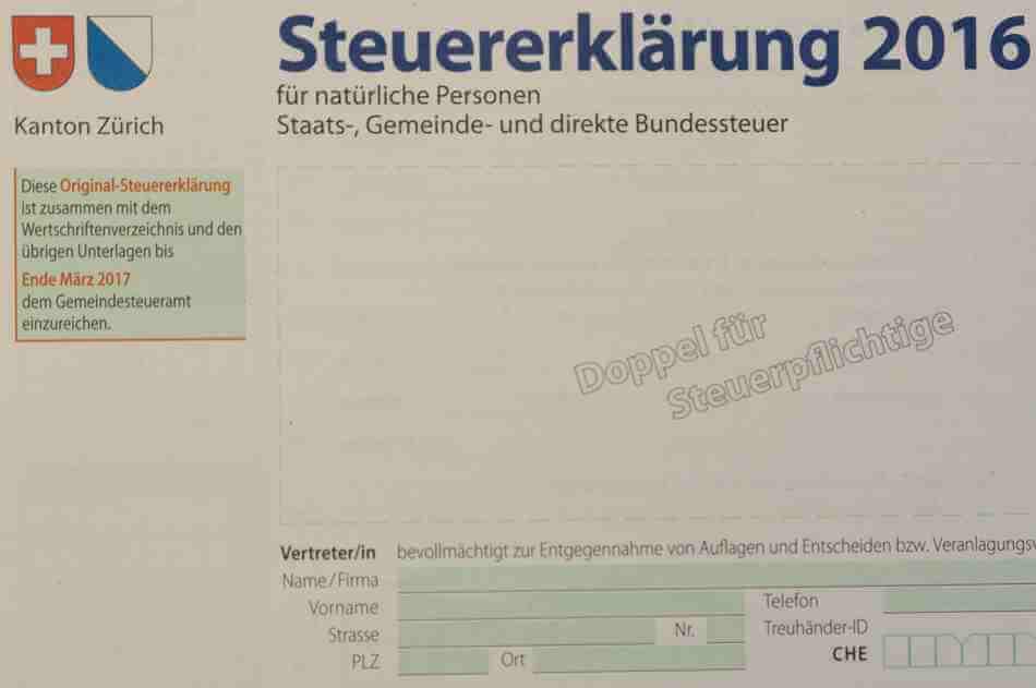 Steuererklärung 2016 ausfüllen lassen - Bertschi Finance Winterthur